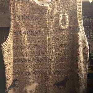 Knit horse vest